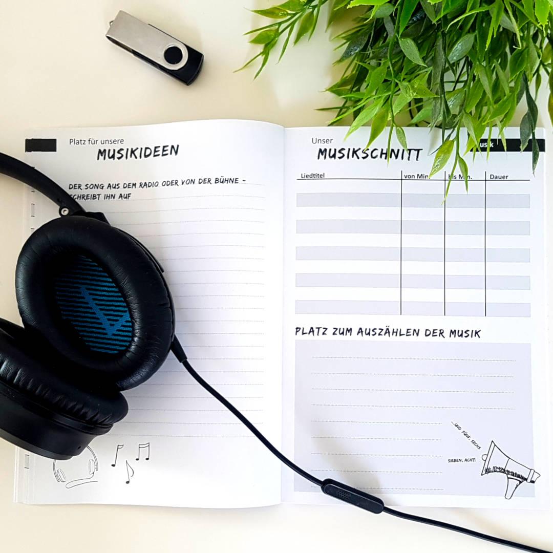 Musikplanung im Trainingsplaner Black Edition